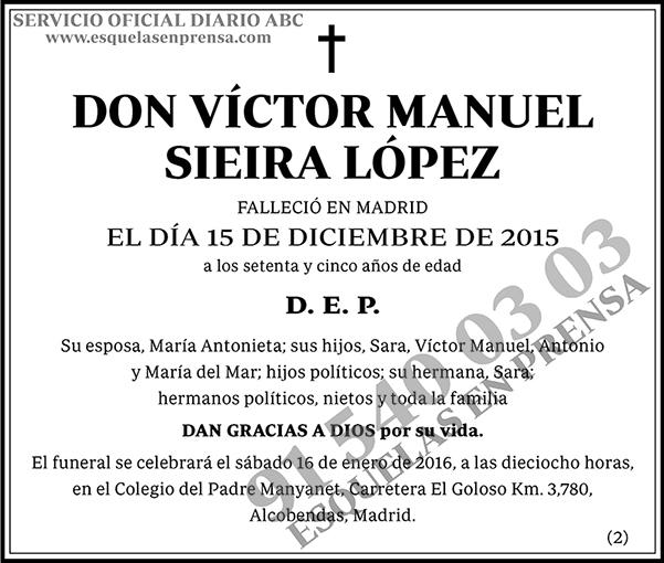 Víctor Manuel Sieira López